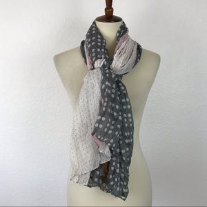 No Brand Multicolor Polka Dot Sheer Scarf AC9